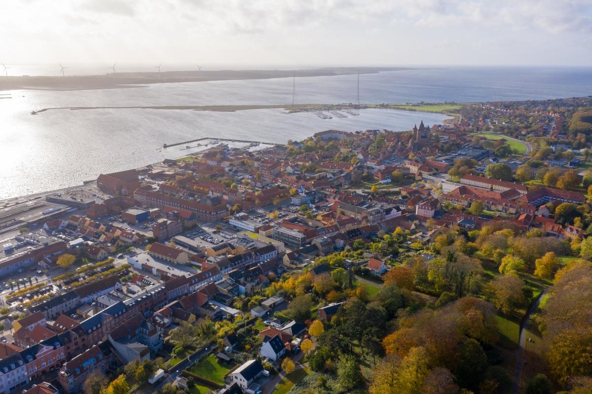 Udsigt over Kalundborg